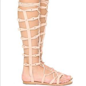 RAYE tall festival gladiator sandals Nude Tan 5.5